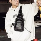 新款男士胸包時尚男包韓版休閒側背包胸前包皮質后背挎包小包 智慧 618狂歡