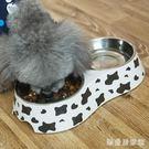 狗碗貓碗寵物貓狗食盆泰迪比熊雙碗飯盆狗糧盆貓食碗狗盤貓盤用品 QG30585『樂愛居家館』