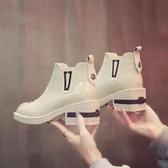 英倫 女馬丁靴 漆皮百搭粗跟短靴 ☸mousika