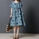 漂亮小媽咪 韓國短袖洋裝 【D1882】 泡泡 短袖 孕婦裙 寬鬆 孕婦裝 薄款 娃娃裝 加大 棉麻 孕婦洋