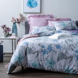 (組)孟宗純棉床包兩用被組雙人+藍翎純棉床包兩用被組雙人