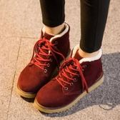 低筒雪靴-時尚甜美可愛圓頭女厚底靴子4色73kg4[巴黎精品]