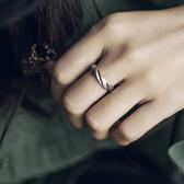 扭紋磨砂復古銀戒指簡約925銀指環尾戒/設計家