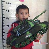 坦克模型 超大號遙控坦克可發射對戰模型充電動兒童越野玩具履帶式男孩汽車 2色