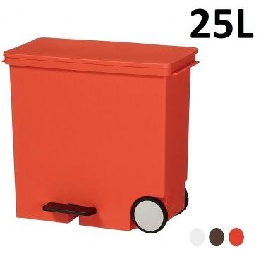 this-this【日本Like it】橫向式分類垃圾桶 25L -紅色
