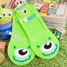 正版授權 迪士尼襪子 怪獸大學 大眼仔 防滑短襪 船型襪 踝襪 止滑隱形襪 COCOS JD040