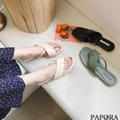 PAPORA夾腳平底涼拖鞋KQ315黑/...