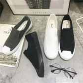 新款男鞋子韓版街拍帆布鞋男低幫一腳蹬懶人鞋老北京布鞋男休閒鞋 雲雨尚品