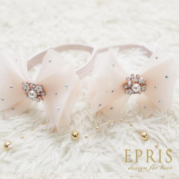 瑪莉珍蝴蝶結束鞋帶-浪漫白、高貴金、甜心粉 裝飾配件