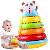 澳貝熊貓疊疊樂層層疊彩虹疊疊杯寶寶早教益智嬰兒童套圈音樂玩具【樂購旗艦店】