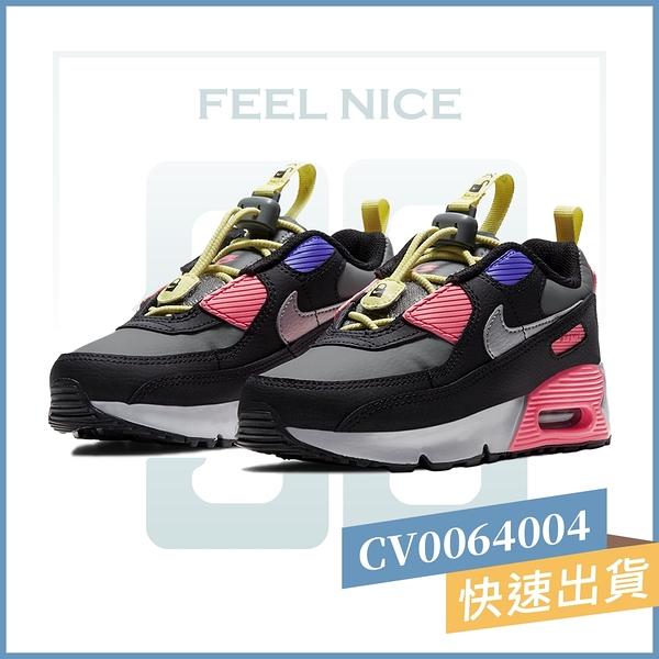 NIKE AIR MAX 90 TOGGLE (PS) 黑粉 中童 氣墊 舒適 避震 休閒鞋 CV0064004