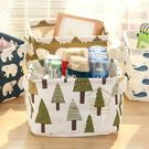 約翰家庭百貨》【SA501】北歐風印花可摺疊桌面置物籃 床頭收納籃  筆筒 水果籃 隨機出貨