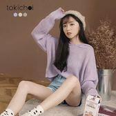 東京著衣-多色韓系寬鬆連帽短版針織上衣(181805)