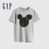 Gap男童 Gap x Disney 迪士尼系列純棉短袖T恤 856652-淺灰色