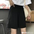 超火cec褲子女夏寬鬆韓版ins直筒bf休閒五分中褲寬管工裝運動短褲