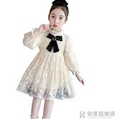 兒童裙子系列 女童加絨洋裝秋冬款10歲小女孩內搭宮廷保暖兒童小香風打底裙子 快意購物網