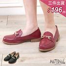 包鞋 金屬扣飾皮感平底包鞋 MA女鞋 T...