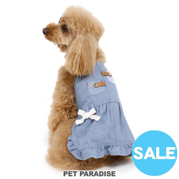 【PET PARADISE 寵物精品】PP 拼接牛仔吊帶連身裙 (3S/DSS/SS) 寵物衣服