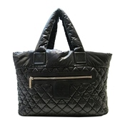 CHANEL 香奈兒 黑色尼龍空氣手提肩背包Coco Cocoon Reversible Tote Bag【BRAND OFF】
