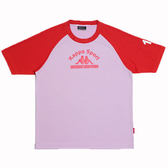 KAPPA義大利小朋友吸濕排汗速乾彩色圓領衫~紅/粉紅色