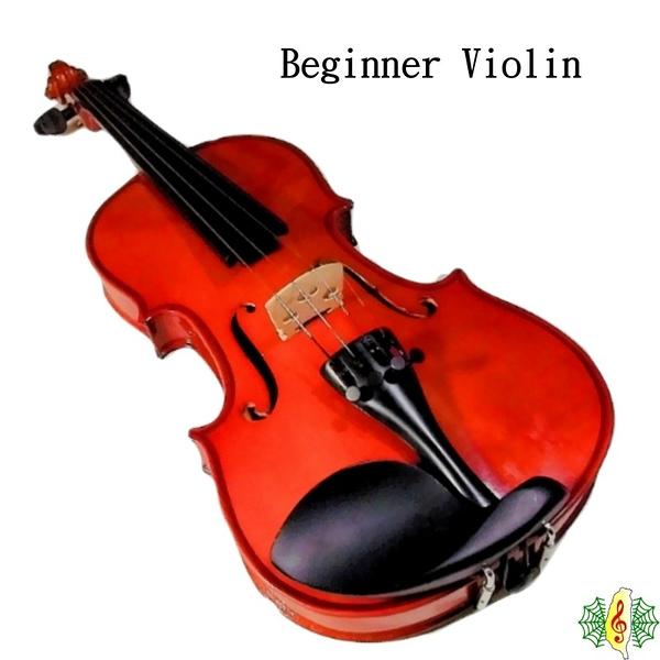 小提琴 [網音樂城] 入門 初學 Beginner Violin 工藝琴 (贈 夜光盒.肩墊 調音器)
