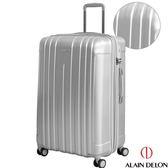 29吋行李箱29吋硬殼行李箱 29吋極致旗艦行李箱 29吋拉絲耐刮旅行箱ALAIN DELON亞蘭德倫鐵灰色 淘樂思