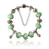 串珠手鍊-琉璃飾品綠色玫瑰花生日情人節禮物女配件73bm184【時尚巴黎】