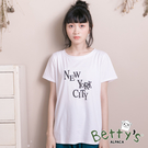 betty's貝蒂思 New York City字樣造型T-shirt(白色)