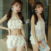 【雙12】全館低至6折三件套泳衣女分體裙式小胸聚攏遮肚顯瘦韓國小清新保守溫泉游泳衣