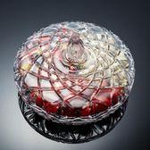 水果盤水晶玻璃干果盤歐式分格帶蓋創意家用客廳堅果盤零食糖果盒瓜子盤【618好康八折】