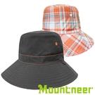 【Mountneer】透氣抗UV雙面帽『深灰/橘藍』11H18 台灣製造│抗UV帽│遮陽帽│圓盤帽│釣魚帽