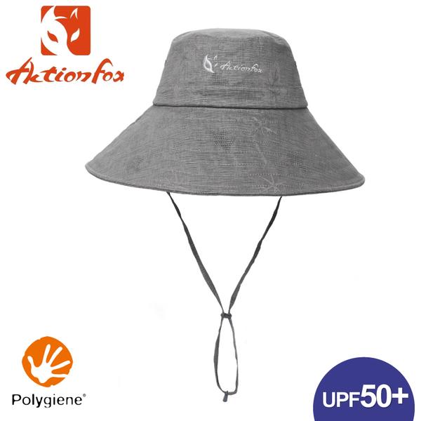 【ActionFox 挪威 抗UV棉麻遮陽帽《中灰》】630-5092/防曬帽/圓盤帽/漁夫帽/登山/園藝/釣魚