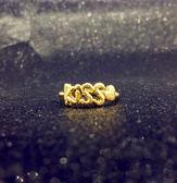 鍍金戒指 - 婚戒開口愛心個性604-066