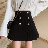 黑色百褶裙半身裙女春夏2021新款大碼高腰a字蓬蓬ins超火的短裙子 pinkq時尚女裝