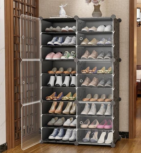 簡易鞋櫃家用防塵收納神器鞋架子多層組裝經濟型門口放塑料大容量  LX 夏季上新