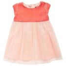 洋裝 I Love Gorgeous 絲絨圓領紗裙洋裝-珊瑚紅 AW14WLB01CO