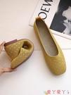 豆豆鞋 軟底單鞋女年春夏新款方頭針織透氣豆豆鞋編織淺口平底孕婦鞋 愛丫 新品