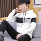 秋裝連帽T恤男春秋季潮男裝上衣連帽外套薄款衛生衣服韓版男士長袖t恤