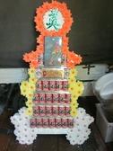 追思弔慰花禮喪禮告別式悼念敬輓用7層罐頭塔/罐頭座(訂作款高級鮑魚罐頭)全台可配送免運費