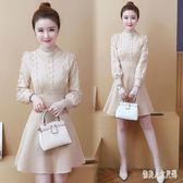 毛衣洋裝新款氣質內搭毛線針織打底連衣裙 qw4389『俏美人大尺碼』