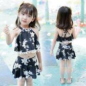 兒童泳裝兒童游泳衣女童女孩泳裝嬰兒男童比基尼套裝寶寶分體小中大童泳褲