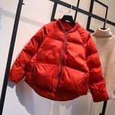 冬裝新款羽絨棉服女短款棒球服棉衣面包服胖MM寬鬆韓版棉襖外套