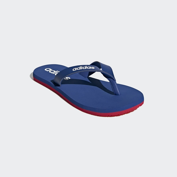 Adidas Eezay Flip-Flops男女款藍紅輕便夾腳拖鞋-NO.EG2040