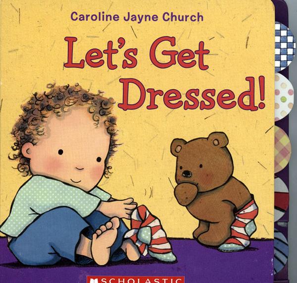 【麥克書店】LET'S GET DRESSED! /硬頁書《服裝》
