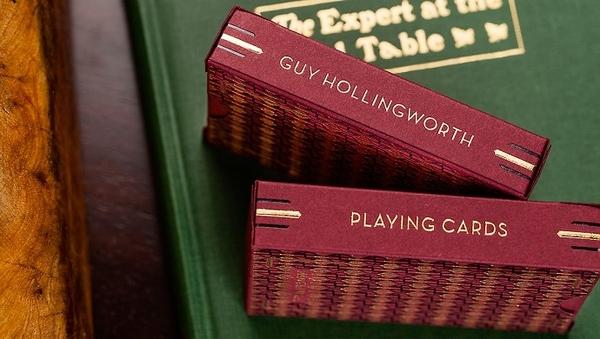 【USPCC撲克】Hollingworth Deck Burgundy Ed 霍林沃思 紅色