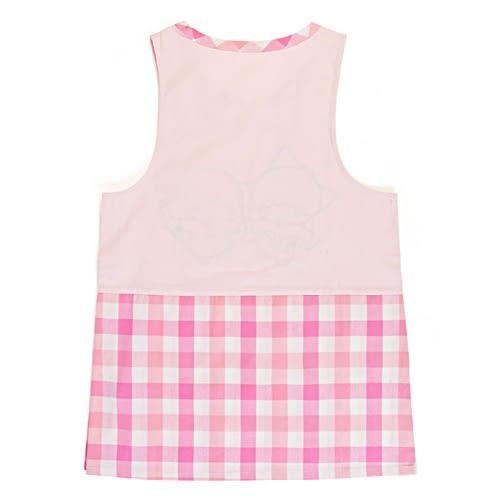 Sanrio 雙星仙子罩衫式圍裙(粉白格紋)★funbox★_654515N