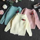 女童純色套頭針織衫百搭毛衣