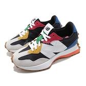 New Balance 休閒鞋 327 男鞋 女鞋 全尺段 白 黑 彩色 大N 膠底 復古 情侶 運動鞋【ACS】 MS327PBBD