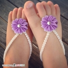 甜美寶寶蕾珍珠花朵腳花 腳環 腳鍊 攝影寫真