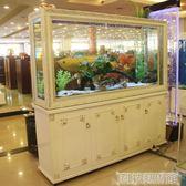 歐式魚缸客廳家用屏風隔斷鞋櫃長方形生態免換水玻璃金魚缸水族箱  DF 科技藝術館